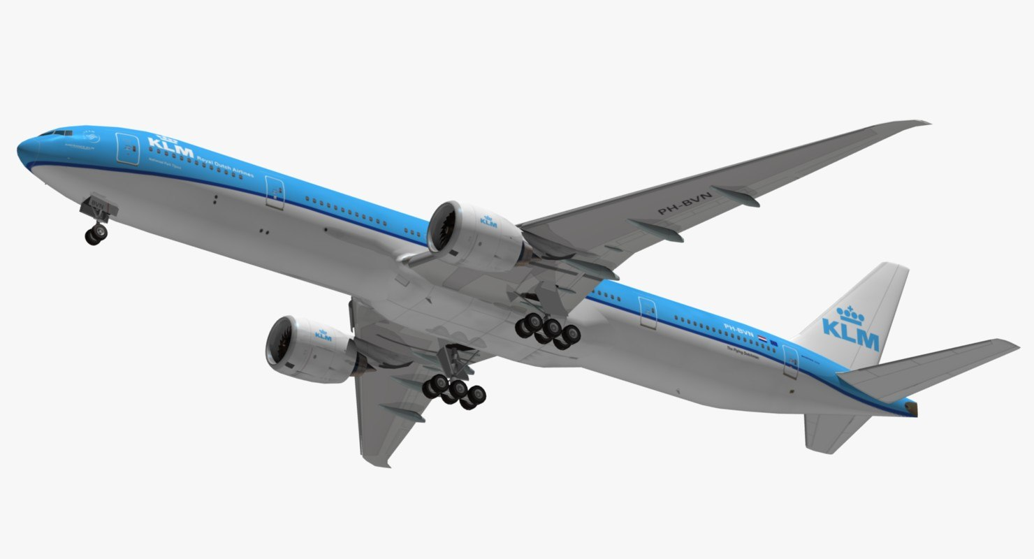 boeing 777 klm 3D model