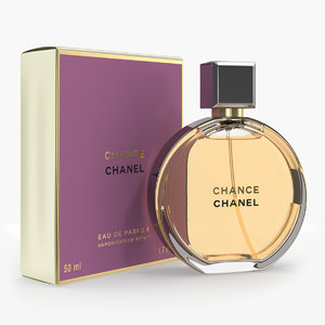 3D parfum chanel chance eau model