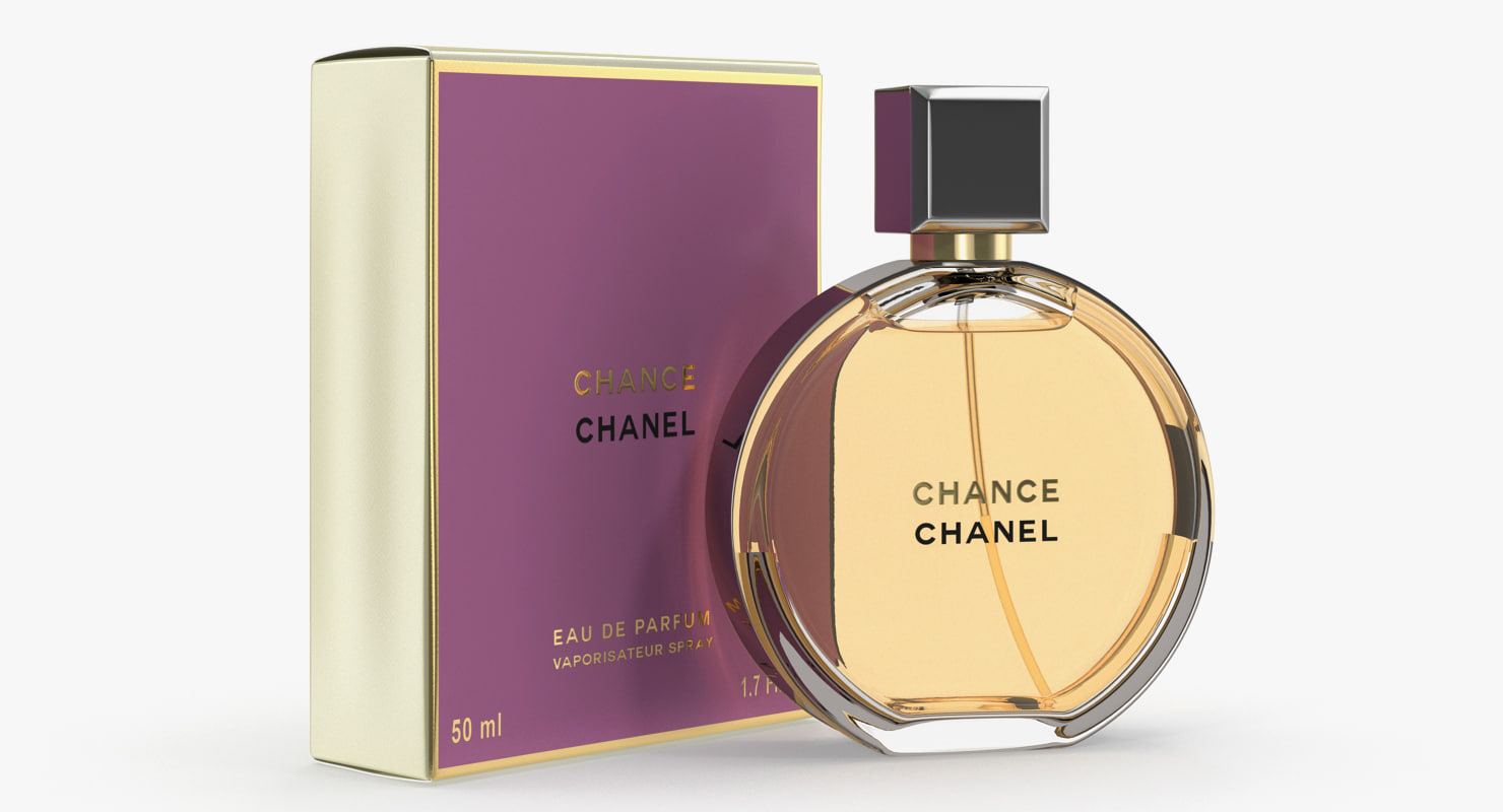 3d Parfum Chanel Chance Eau Model Turbosquid 1264969