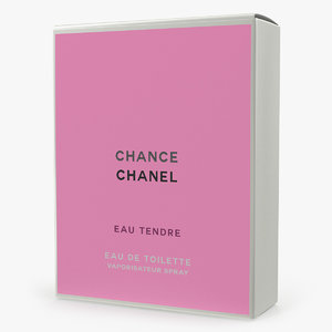 parfum box chanel chance 3D model
