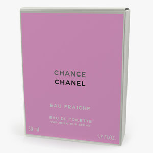 parfum box chanel chance 3D