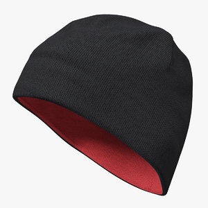 mens hat ribbed beanie 3D model