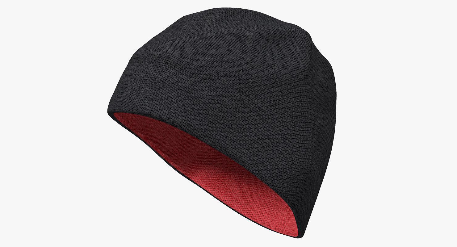 mens hat ribbed beanie 3D model