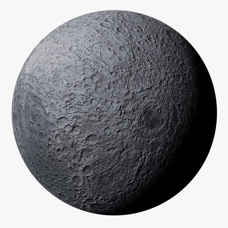 3D highpoly photorealistic moon details
