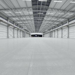 hangar world scene 3D model