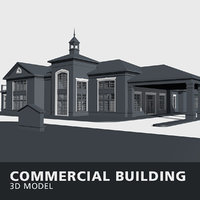 commercial building walls 3D