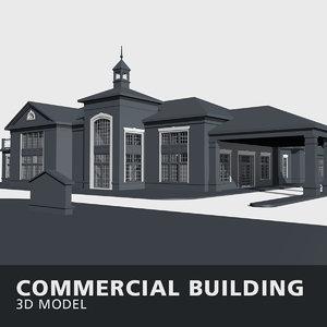 commercial building walls 3D