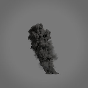 3D smoke plume vdb -