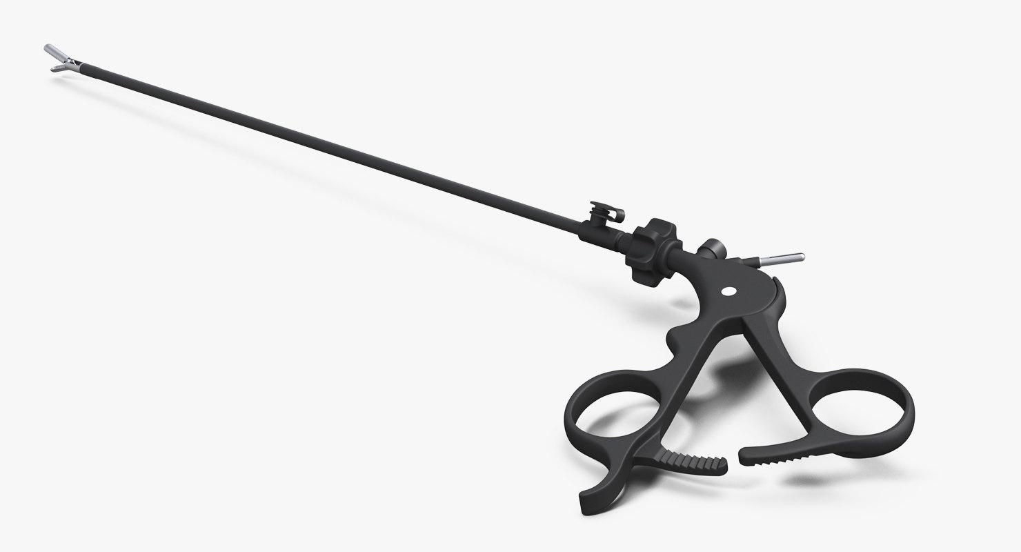 3D model laparoscopic instrument grasper