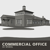 3D commercial office building model