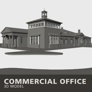 3D commercial office building model