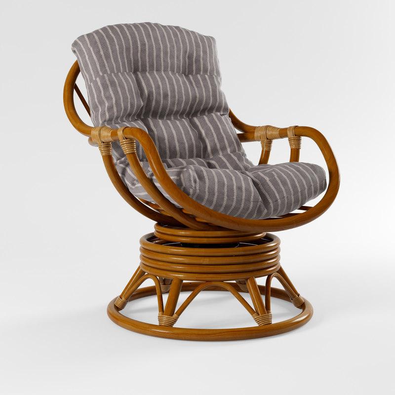 kara rocking chair 3D model