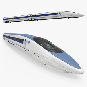 speed train shinkansen 500 3D