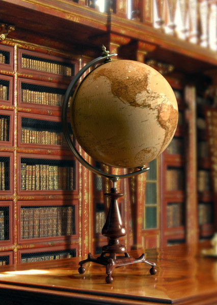 3D ancient earth globe