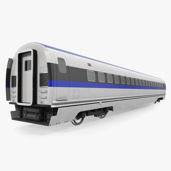 speed train passenger wagon 3D model