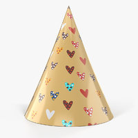 3D model heart party hat