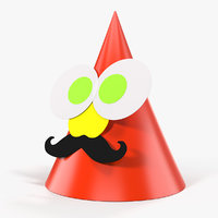 funny party hat model