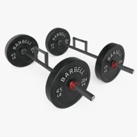 farmer s walk barbells 3D model