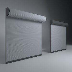 shop garage door 3D model