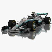 Mercedes-AMG W09 EQ Power+ Formula 1 Car Season 2018
