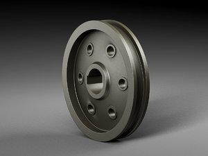 3D pulley pump model