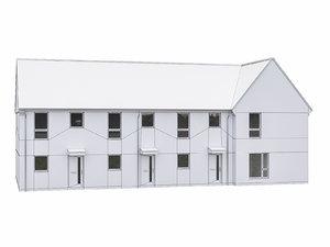 3D model house scenes build
