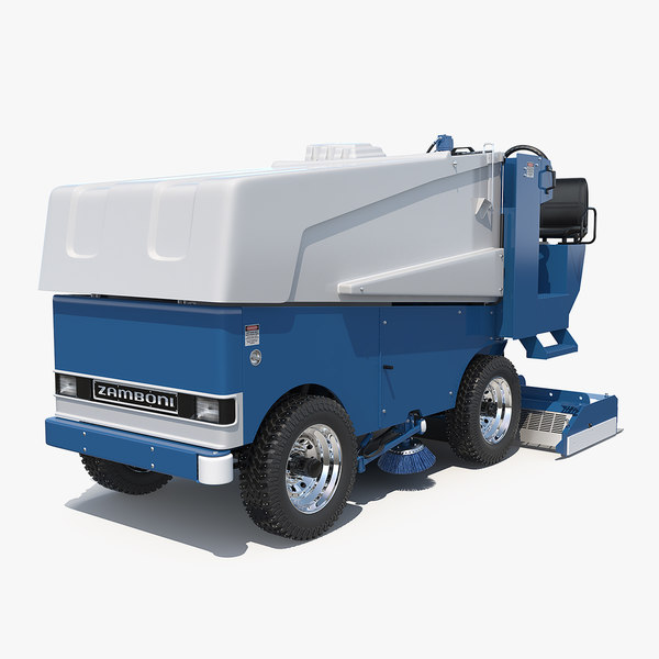 3D electric ice resurfacer machine