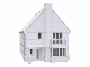 3D house scenes build