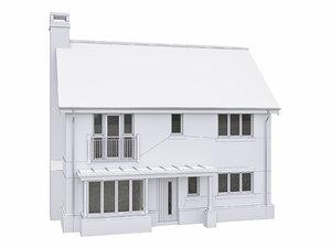 house scenes build 3D model