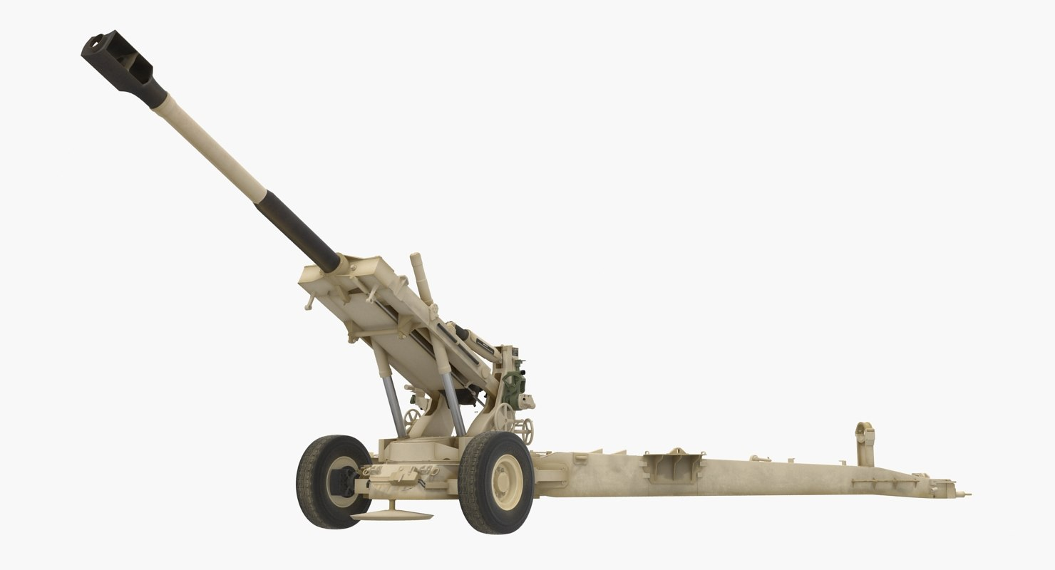 artillery m198 155mm howitzer model