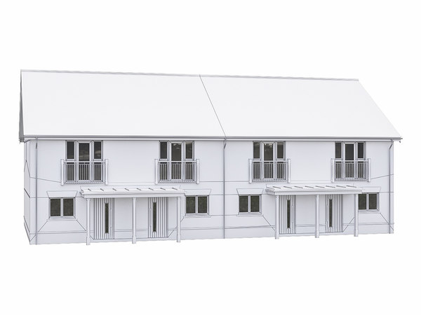neighborhood house 3D model