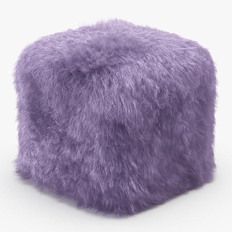 3D wool talia pouf