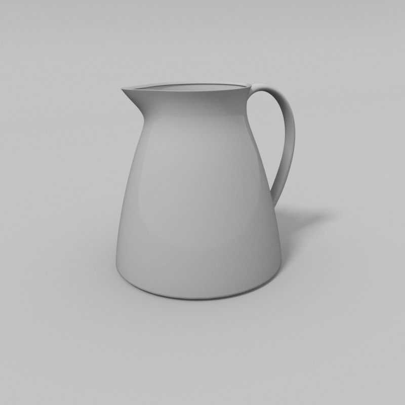 3D model water pitcher