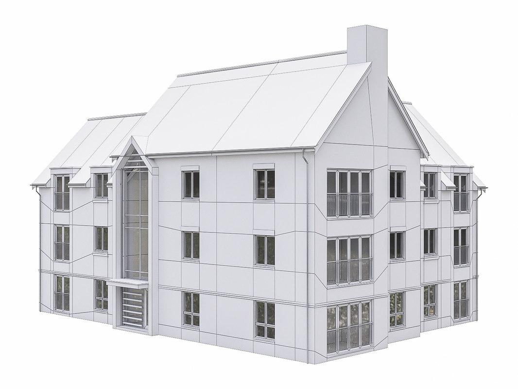 3D neighborhood house