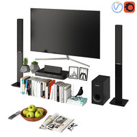 samsung tv modern living 3D model