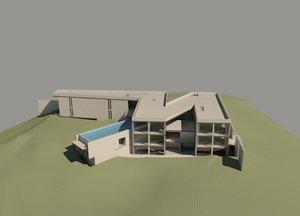 3D pringiers house tadao ando