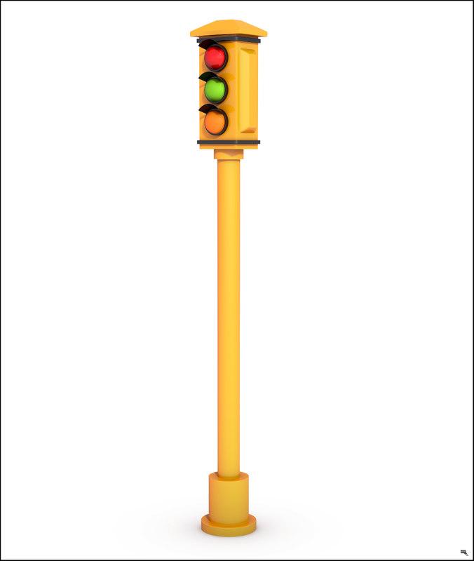 traffic light car model