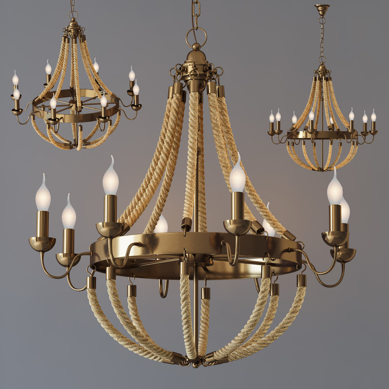3D metal 8 lighting loft