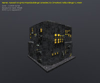 3D model greeble buildings