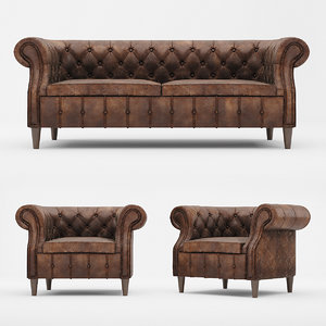 chair sofa chelsea 3D model
