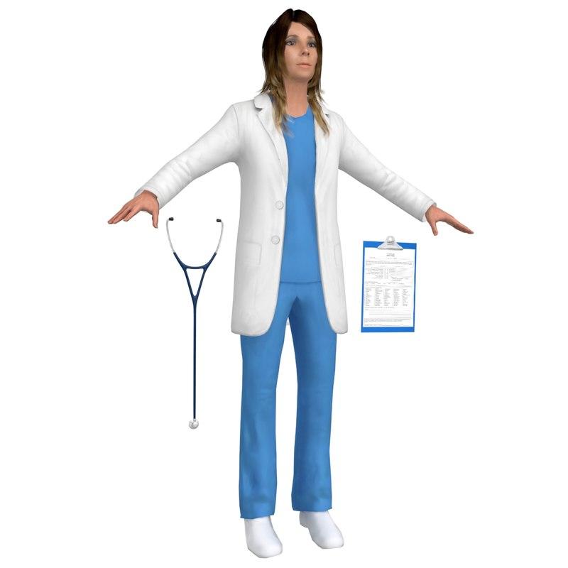 female doctor model