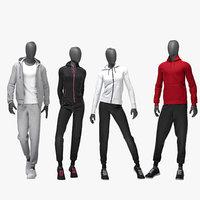 3D set sport suits