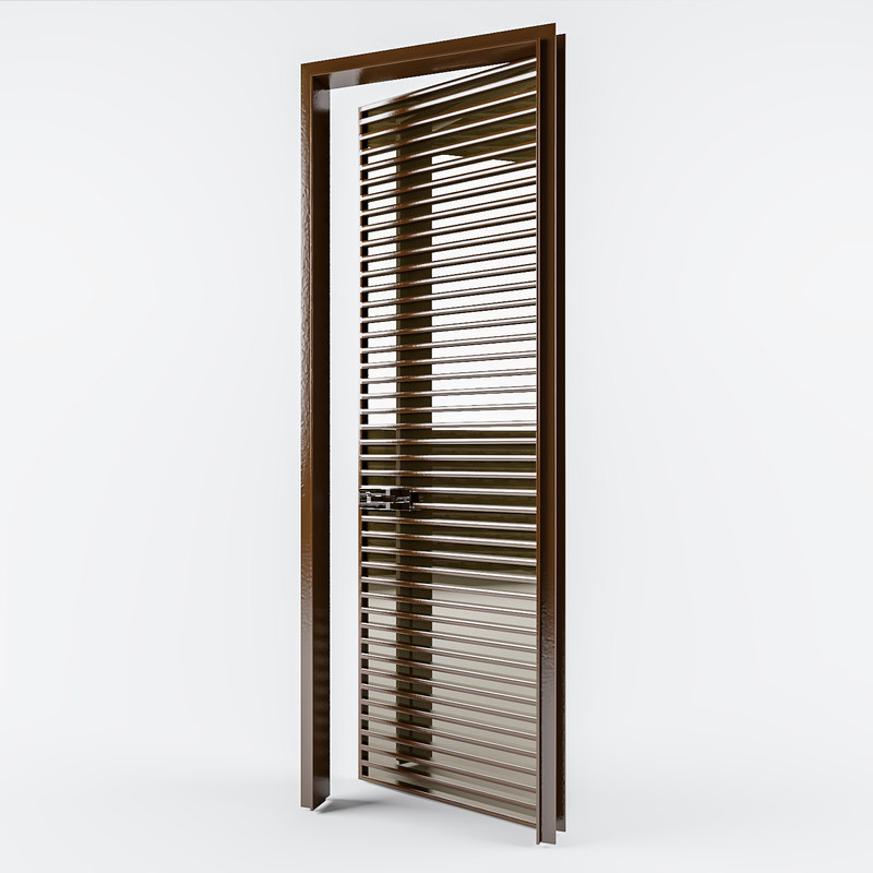 designed interior metal door 3D