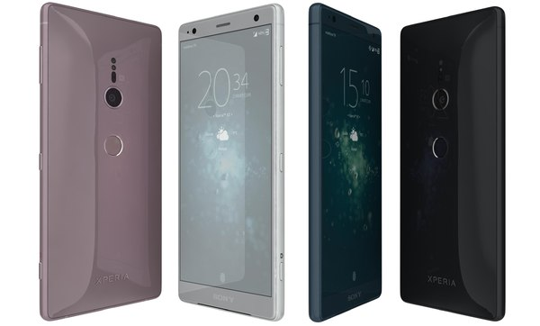 sony xperia xz2 colors 3D model