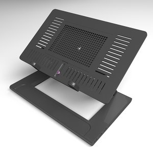 3D laptop stand model