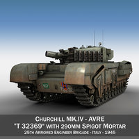 3D model british churchill mk iv