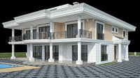 villa classic family house 3D model