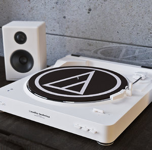 3D at-lp60bk-bt wireless stereo turntable