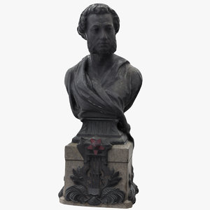 alexander pushkin bust 3D model