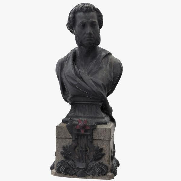 alexander pushkin bust 3D model